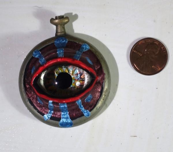 Watch Eye Blue n Red Rim