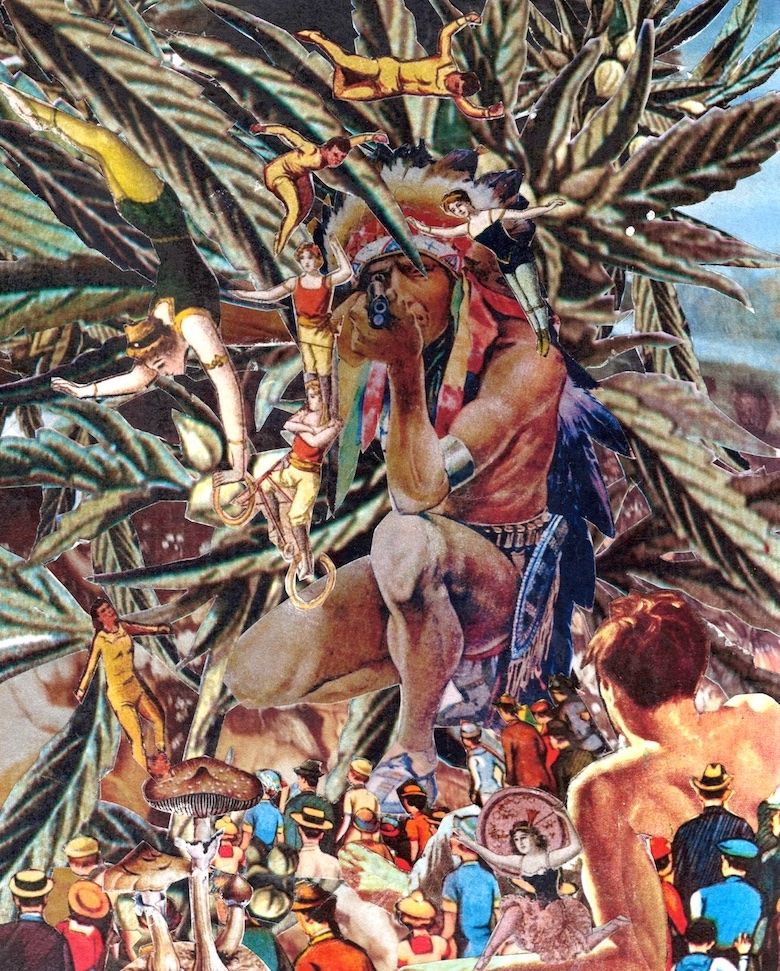 "First Nation Rebellion - Hand Cut Collage - (8""x10"" Original Available)"